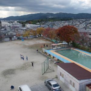 桔梗が丘の風景(小学校の屋上から)