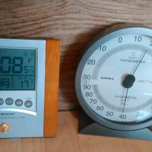 今日の温度比較