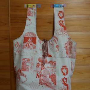 裏地付きエコバッグ完成~♪  & 誕生日祝いの傘が届きました~♪  &  ヒグマ肉でチンジャオロース~♪