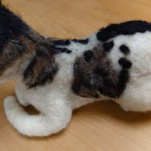 6色の羊毛をブレンド・・・羊毛フェルト猫さん~♪ & マイタケとかぼちゃの煮物~♪ & 生湯葉~♪