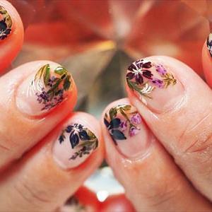 秋の和花ネイル♪
