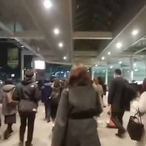 1/15  20:30  登戸駅 多摩川を挟んで、東京と神奈川の境