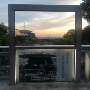 5/29  19時過ぎ 成城の不動橋、富士見橋からの富士山