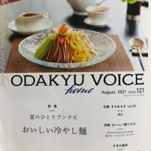 小田急電鉄の機関紙「ODAKYU  VOICE」 ISSUE121  夏の1人ランチに おいしい冷やし麺