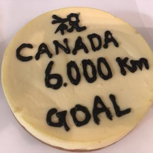 カナダ徒歩横断ゴール 6,000km Goal of Across Canada on foot