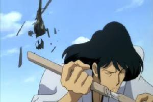 日本刀の練習で