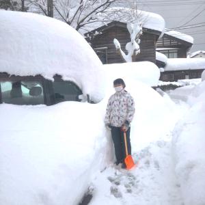 2021.01.12 令和3年 糸魚川 大雪記録④ (積雪100cm)