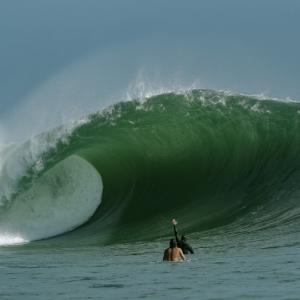 Kelly Slater Holds Court in Wild Padang Padang