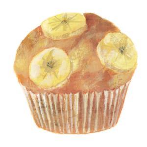 今日の絵「バナナマフィン」
