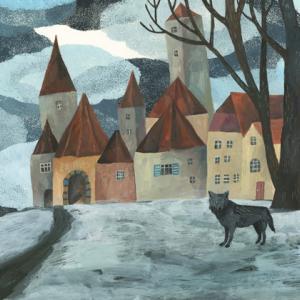 今日の絵「オオカミの村」