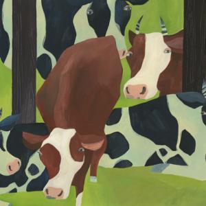 今日の絵「牛の休日」