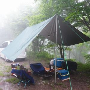 岳人の森で梅雨キャンプ