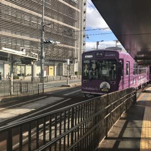 京都電車と徒歩で金閣寺