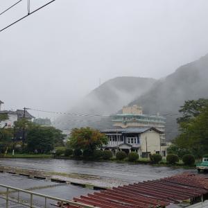 台風に向かって