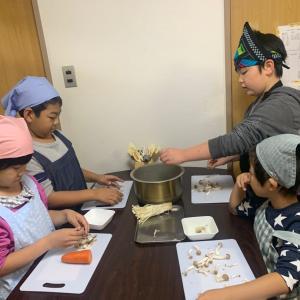 11/17昼の部のレッスン!炊き込みご飯は子どもたちに大人気♪和食メニューです☆