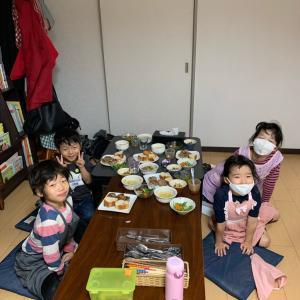 10/24のレッスン!4人でハロウィンメニュー作り☆