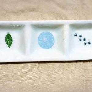 猫の肉球の三連皿を作成