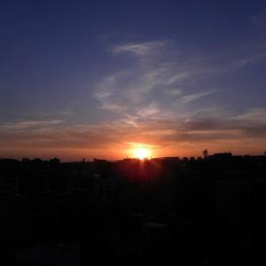 5月7日の夕焼け