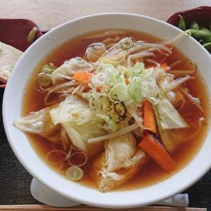 野菜ラーメンと五箇山豆腐