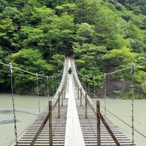 静岡県 夫婦で車中泊の旅 寸又峡温泉の夢の吊り橋を渡る