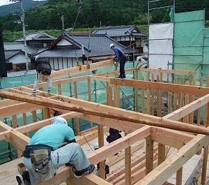 宇和町稲生K様邸/上棟現場レポ(昨日)