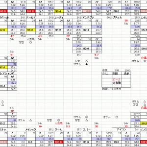 中京競馬 ローズステークス 9月19日 11R 穴馬検索シートだよ 穴馬指南するよ