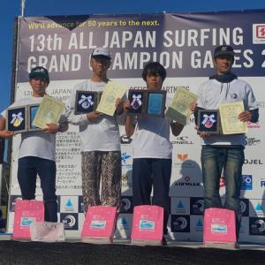 蛭間拓斗がNSA ALL JAPAN SURFING GAMES 2019で第2位に!
