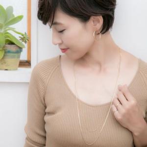 秋冬コーデのネックレスにぜひ♡【Un】ツインロングネックレス(ゴールド)