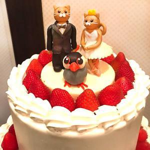 文鳥さんのウェディングケーキ!
