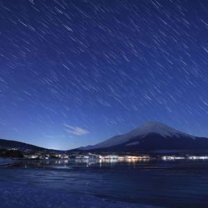 富士山×星・・・その2(星の雨)
