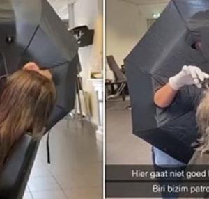 美容師が傘を防護服代わりに接客、オランダの新型コロナウイルス対策(オランダ)