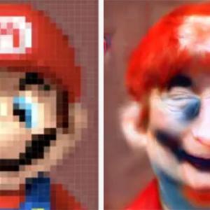マリオはこんな顔だった!?モザイクを取り去り、リアルな顔を生成するAI技術が登場(米研究)