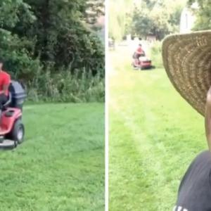 独特の芝刈りをする息子のやり方を一切批判しない父親にユーザーら共感(アメリカ)