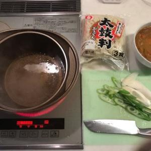 朝からカレーうどんを作る