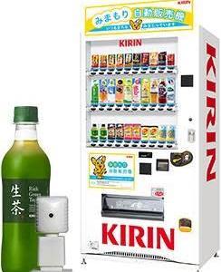 飲料自販機に防犯カメラを内蔵