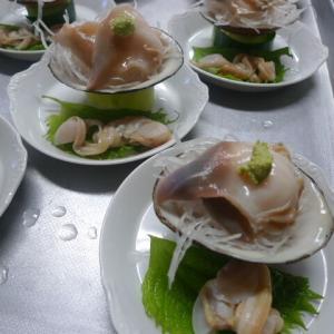 ホッキ貝の刺身
