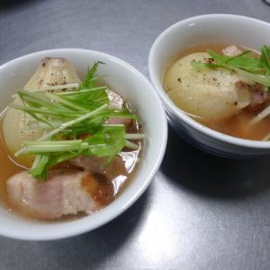 小玉葱とベーコンの煮物
