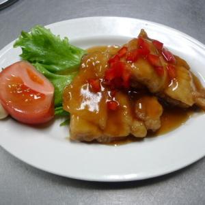 酢豚味、鶏唐揚げ