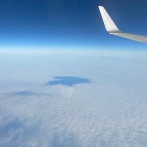 ハート雲と虹@天空のパワースポット