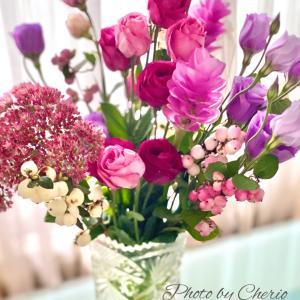 美味しいランチと可愛いお花