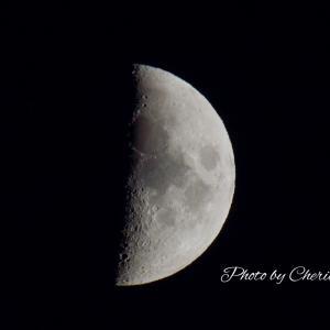 ベランダからまた月見