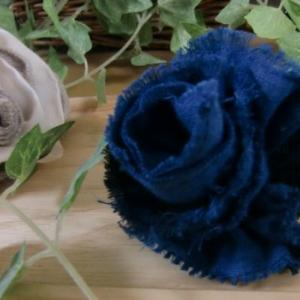 薔薇のヘアーアクセ