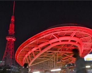 テレビ塔とオアシス21も真っ赤っか