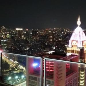 話題の高層レストランで夜景を見ながら鴛鴦火鍋 @ 麻辣45