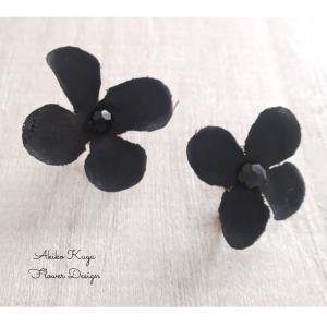 [コピー]フラワーアクセサリー 花びらひらひらブラック