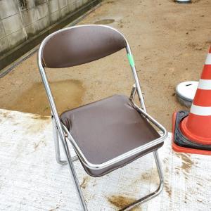 パイプ椅子が。。