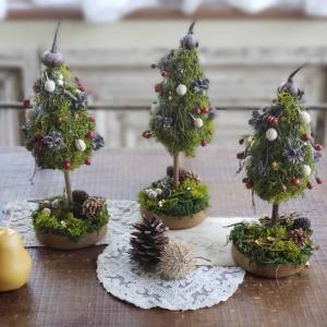 ミニクリスマスツリー*三日月リース*クリスマスベルリース