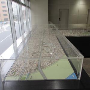 京急蒲田駅にて、駅周辺の模型。 【2019年04月 東京都大田区】