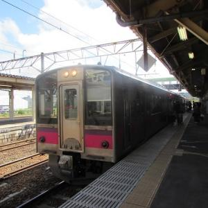 JR大館駅にて。東北ではすっかり「お馴染み」の車両。 【2019年07月 秋田県大館市】