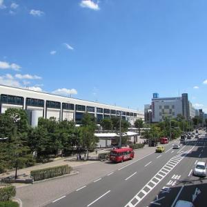 ある晴れた日の、郡山駅西口駅前広場。 【2016年08月 福島県郡山市】